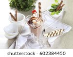 sundae ice cream   Shutterstock . vector #602384450
