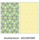 vertical seamless patterns set  ... | Shutterstock .eps vector #602385380