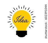 bulb light icon over white... | Shutterstock .eps vector #602391044