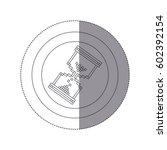sticker silhouette circular... | Shutterstock .eps vector #602392154