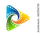 Play Film Logo Template - stock vector
