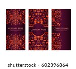 set of templates for flyers...   Shutterstock .eps vector #602396864