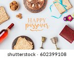 jewish holiday passover pesah... | Shutterstock . vector #602399108