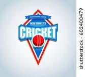 cricket logo   emblem template. ... | Shutterstock .eps vector #602400479