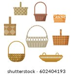 set of baskets of different... | Shutterstock .eps vector #602404193