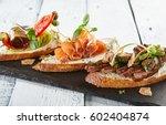 restaurant food   delicious... | Shutterstock . vector #602404874