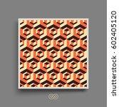 hexagonal lines pattern.... | Shutterstock .eps vector #602405120