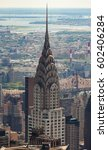 Small photo of New York City, Usa - July 09, 2015: : Aerial view of the Chrysler building. The Chrysler Building was designed by architect William Van Alena as Art Deco architecture and the famous landmark.