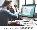digital communication social... | Shutterstock . vector #602413358
