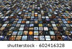 video wall with many small... | Shutterstock . vector #602416328