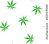 seamless pattern with cannabis... | Shutterstock .eps vector #602419040