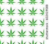 seamless pattern with cannabis... | Shutterstock .eps vector #602419088