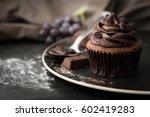 Chocolate Cupcake With Icing...