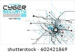 hi tech cyber fututistic... | Shutterstock .eps vector #602421869