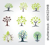 set of tree vector logo | Shutterstock .eps vector #602422448