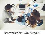 group of university students... | Shutterstock . vector #602439308