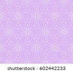 geometric pattern in floral... | Shutterstock .eps vector #602442233