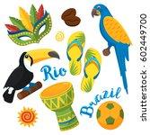 rio carnival brazilian festival ... | Shutterstock .eps vector #602449700