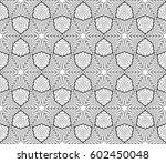 romantic geometric floral... | Shutterstock .eps vector #602450048