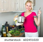 portrait of smiling young woman ... | Shutterstock . vector #602451020