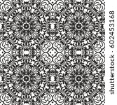 seamless floral pattern motif... | Shutterstock .eps vector #602453168