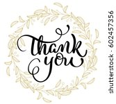 thank you text with round frame ... | Shutterstock .eps vector #602457356