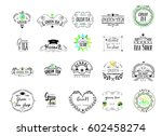 badge as part of the design  ... | Shutterstock .eps vector #602458274