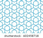abstract geometric pattern with ... | Shutterstock . vector #602458718