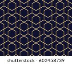 abstract geometric pattern with ... | Shutterstock . vector #602458739