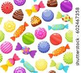Sweet Candies Seamless Pattern...