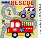 rescue team in the road city ... | Shutterstock .eps vector #602468144