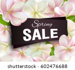 spring sale background with... | Shutterstock .eps vector #602476688