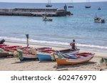 santiago island  cape verde  ... | Shutterstock . vector #602476970
