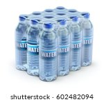 pet packed bottled water in... | Shutterstock . vector #602482094