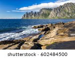view to mefjord on senja island ... | Shutterstock . vector #602484500