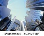 panorama cityscape modern high... | Shutterstock . vector #602494484