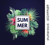 customizable vector floral... | Shutterstock .eps vector #602499689