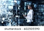 technologies connecting the... | Shutterstock . vector #602505590
