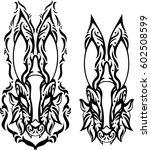 creative design for tattoo ... | Shutterstock .eps vector #602508599