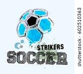 Vector Grunge Soccer Ball   T...