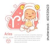children's horoscope icon. kids ... | Shutterstock .eps vector #602520623