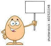 talking egg cartoon mascot... | Shutterstock . vector #602521148