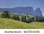 schlern sciliar mountain  its... | Shutterstock . vector #602531030