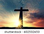 Religious Cross Silhouette...