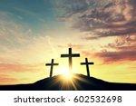 religious cross silhouette... | Shutterstock . vector #602532698