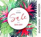 customizable vector floral... | Shutterstock .eps vector #602540204