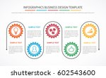 business process infographic... | Shutterstock .eps vector #602543600