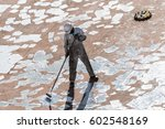 young seaman doing paint... | Shutterstock . vector #602548169