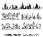 set of different landscapes... | Shutterstock .eps vector #602550344