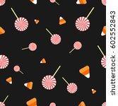 halloween lollipop seamless... | Shutterstock .eps vector #602552843
